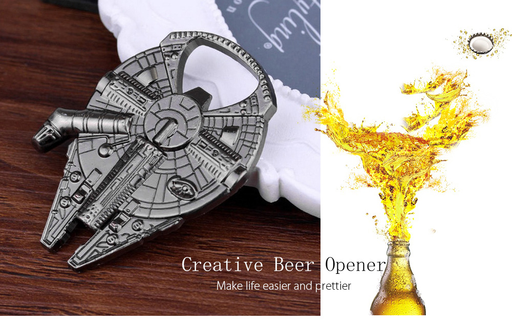 Creative Airship Style Bottle Wine Opener- Silver