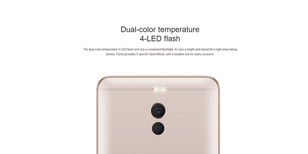 Meizu M6 Note 4G Phablet 5.5 inch Android 6.0 Snapdragon 625 Octa Core 2.0GHz 4GB RAM 64GB ROM 12.0MP + 5.0MP Dual Rear Cameras Fingerprint Scanner