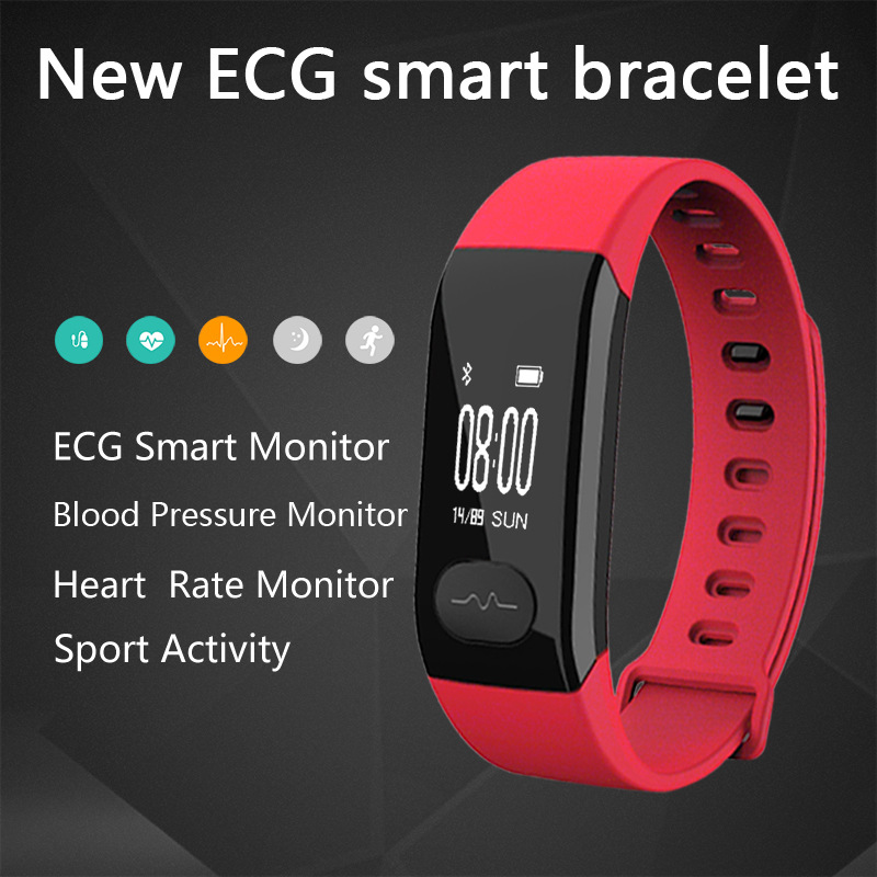 E29 Ppg+Ecg Smart Chip Bluetooth Wireless Sports Smart Bracelet For Ecg / Blood Pressure / Heart Rate / Blood Oxygen