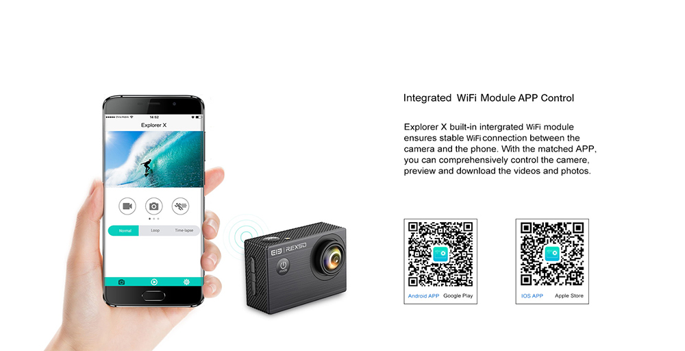 Elephone REXSO Explorer X 4K 30fps Action Camera