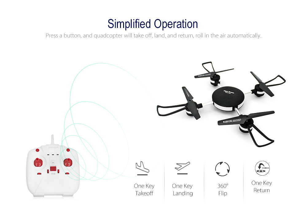 PEG111 2.4G 4CH RC Drone RTF WiFi FPV 0.3MP Camera / Headless Mode / One Key Return