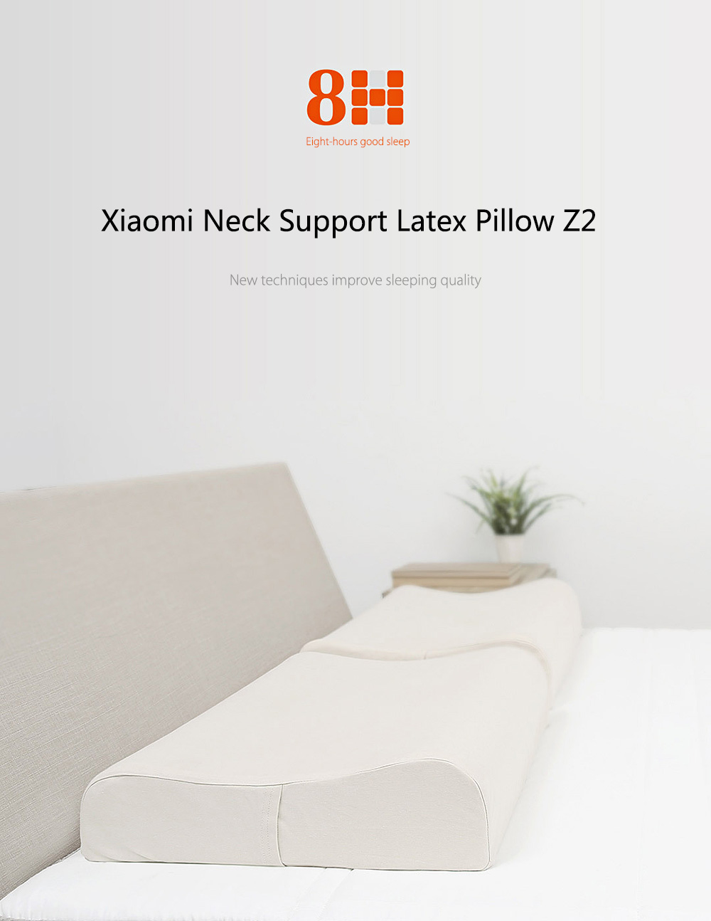 Original Xiaomi 8H Cool Feeling Slow Rebound Memory Foam Cotton Pillow Z2 Super Soft Antibacterial Neck Support Cushion
