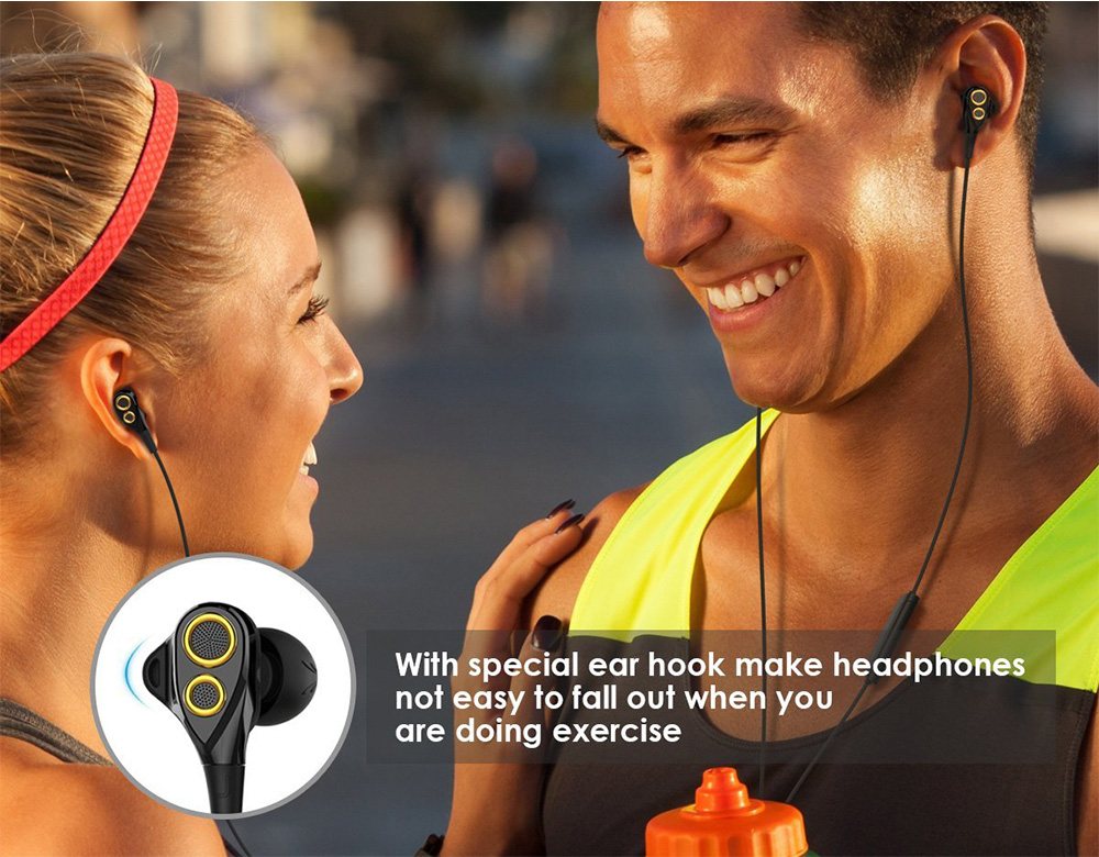 UIISII T8 In-ear Shocking Bass Earphones with Mic