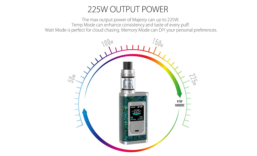 Kit original SMOK Majesty com 6 - 225W