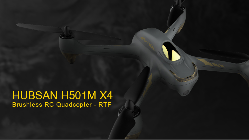 HUBSAN H501M X4 GPS Brushless RC Drone RTF WiFi FPV 1280 x 720P / Waypoints / Follow Me Mode