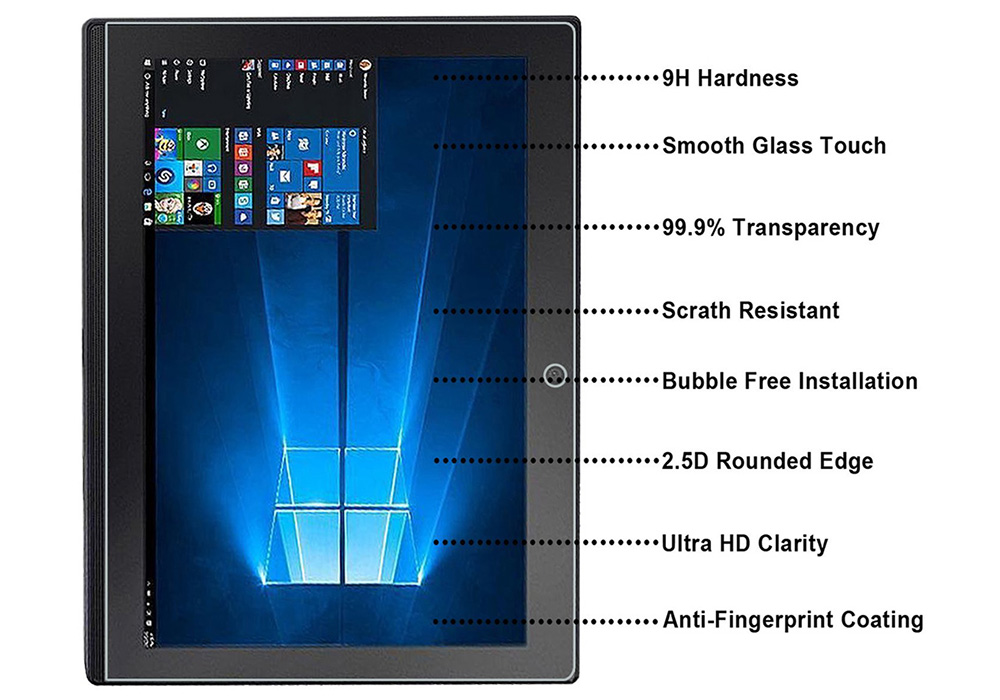 Ultra-thin Tempered Glass Explosion-proof Protective Film for Lenovo Miix 320- Transparent