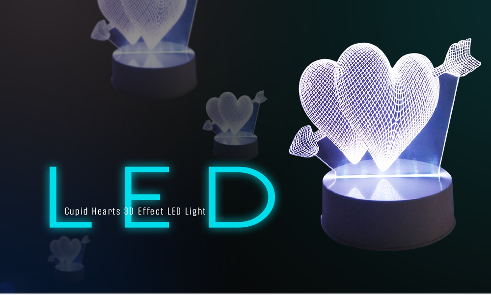 Table Cupid Desk 3d Hearts Led Touch Light Night Lamp nwN0mOyv8