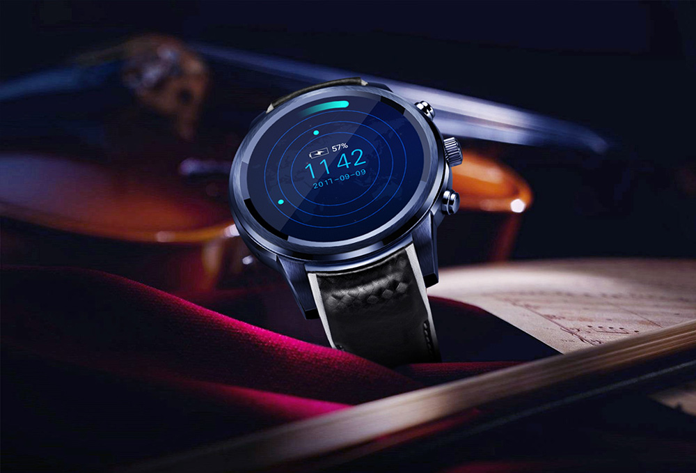 LEMFO LEM5 Pro 3G Smartwatch Phone 1.39 inch Android 5.1 MTK6580 1.3GHz Quad Core 2GB RAM 16GB ROM Heart Rate Monitor Pedometer GPS