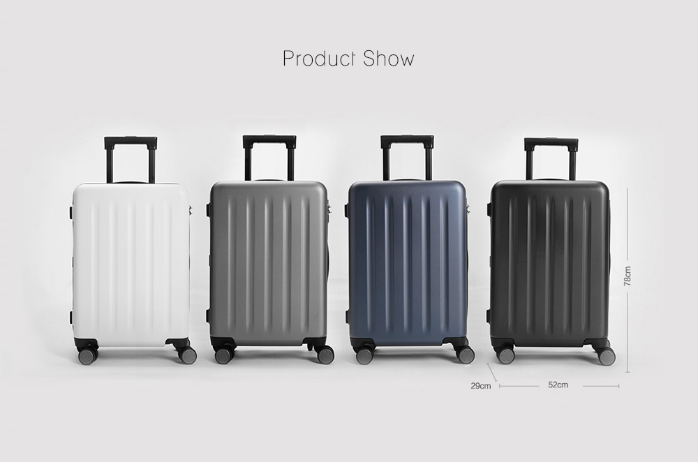 Xiaomi Lightweight Four Wheel Upright Suitcase- Black