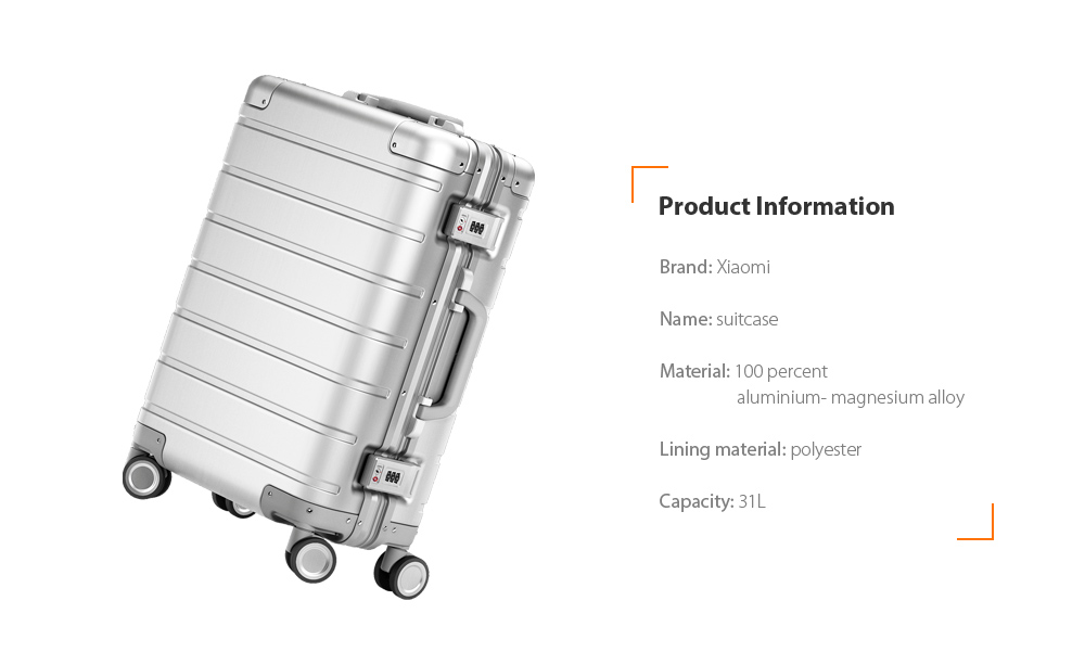 Coupon Xiaomi 20 inch Metal Travel