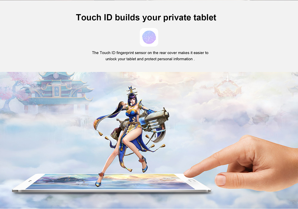 Teclast Master T8 8.4 inch Tablet PC Android 7.0 MTK8176 Hexa Core 1.7GHz 4GB RAM 64GB ROM Fingerprint Recognition 13.0MP Front Camera