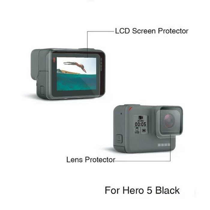 Screen Protector + Camera Lens Film Set for Gopro Hero 5 / Gopro Hero 6