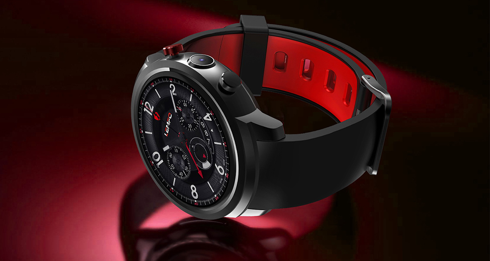 LEMFO LEF 2 3G Smartwatch Phone Android 5.1 1.3 inch MTK6580 1.0GHz Quad Core 512MB RAM 8GB ROM 2.0MP Camera Bluetooth GPS