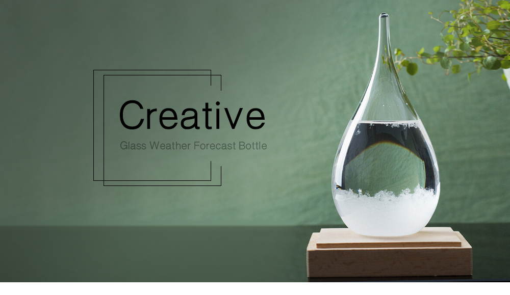 Creative Gifts Storm Glass Home Decoration Water Drop Weather Forecast Bottle