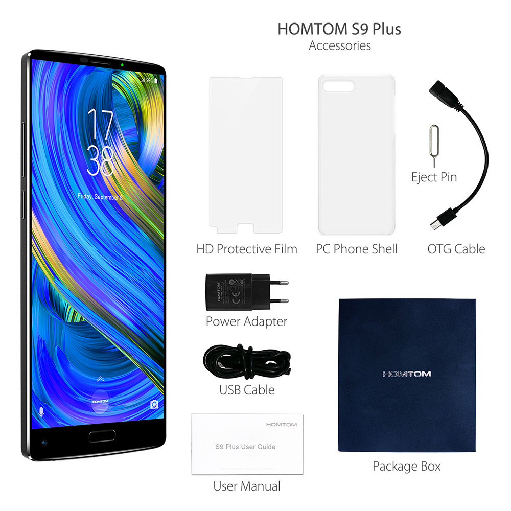 HOMTOM S9 Plus 4G Phablet 5.99 inch Android 7.0 MTK6750T Octa Core 1.5GHz 4GB RAM 64GB ROM 16.0MP + 5.0MP Dual Rear Cameras OTG Function Fingerprint Scanner