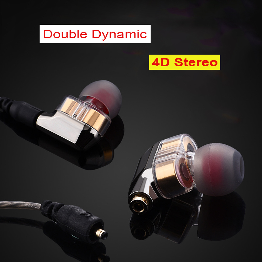 WS25 Cool Double Dynamic HiFi Earphones