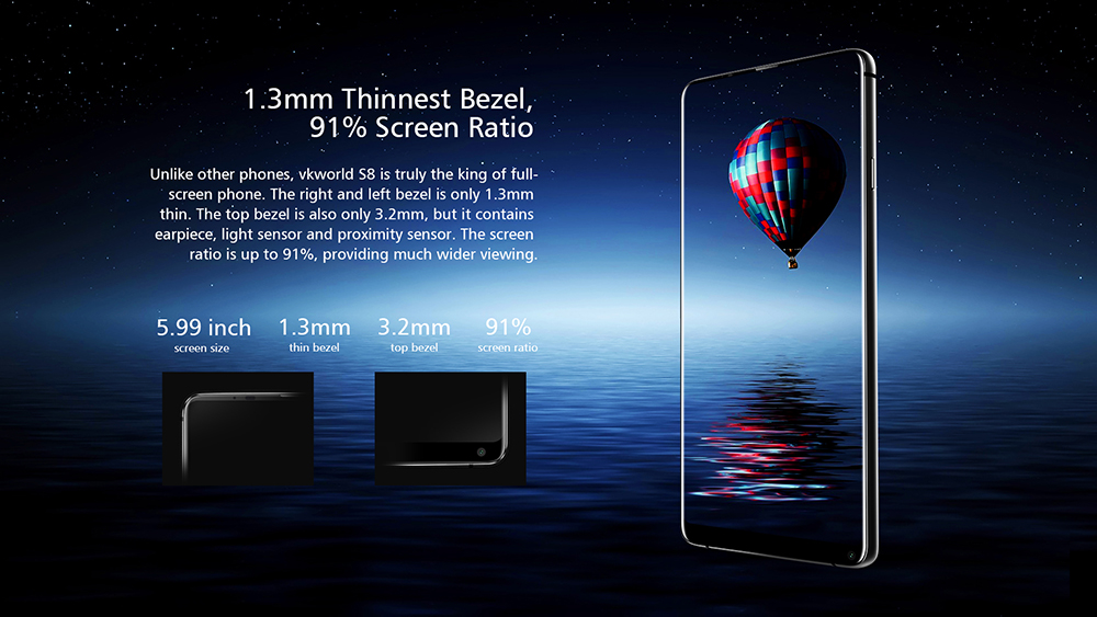5e1904592d4 VKworld S8 4G Phablet 5.99 inch Android 7.0 MTK6750T Octa Core 4GB RAM 64GB  ROM 16.0