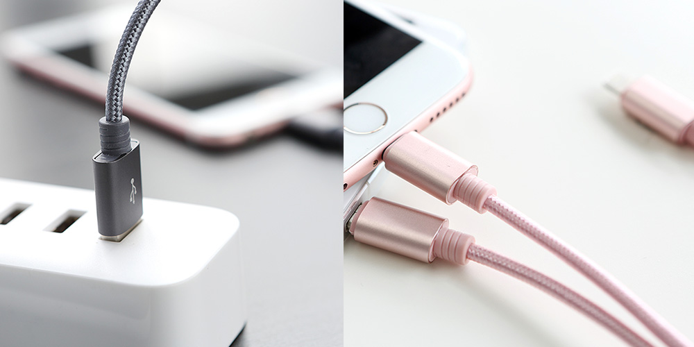 Rock Universal Multifunctional Practical 3 in 1 Charging USB Cable