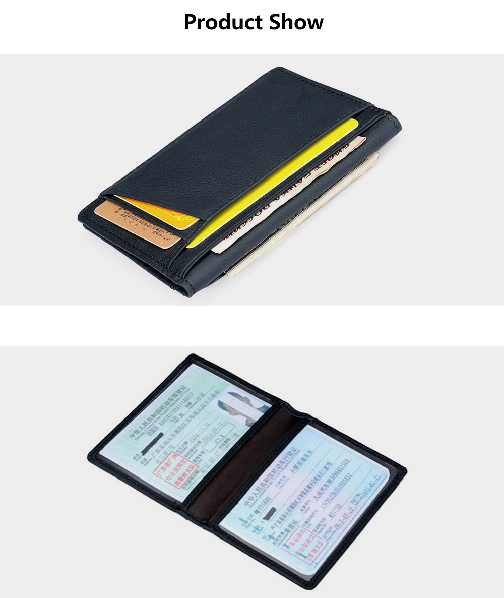 Casual Slim Leather Card Holder for Men