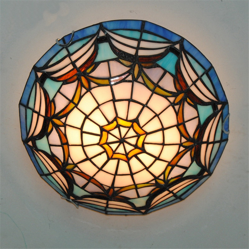 Dfnxdd 12 modern art crafts nordic stained glass lamp shade dfnxdd 12 modern art crafts nordic stained glass lamp shade lustre vanity flush mount ceiling mozeypictures Choice Image