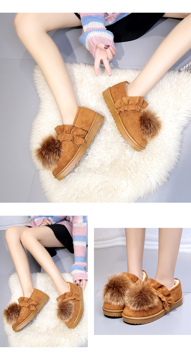 Winter New Style Of Flat Base Snow Short Boots Women's Shoes