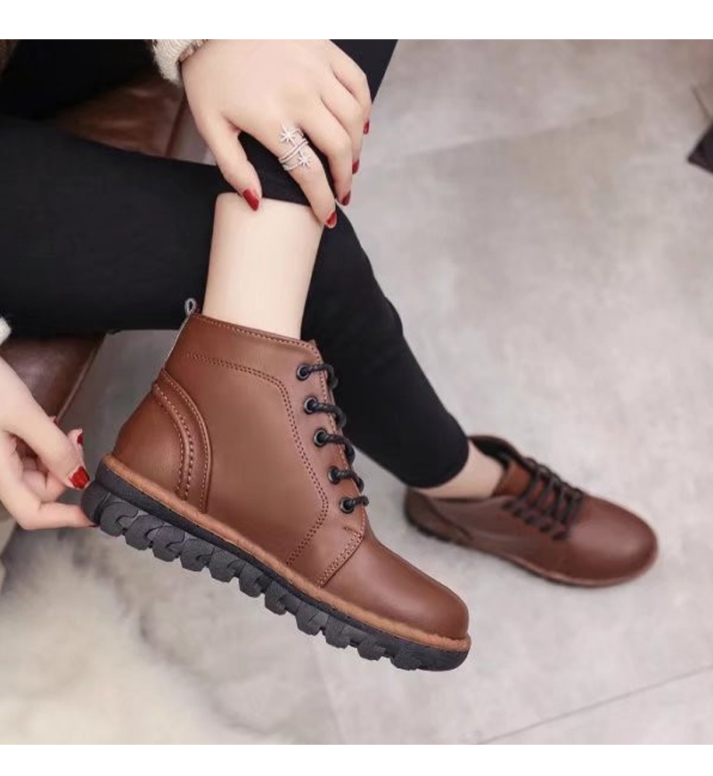 Autumn and Winter Fashion Martin Female Short Boots Fraenulum Students Shoes
