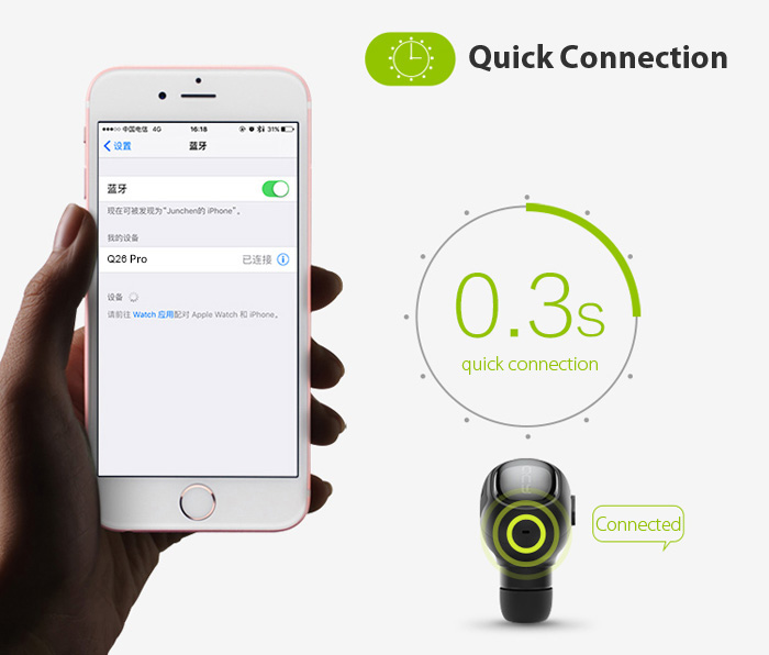 QCY Q26 Pro Mini Wireless Bluetooth Music Headset Supports Hands-free Call