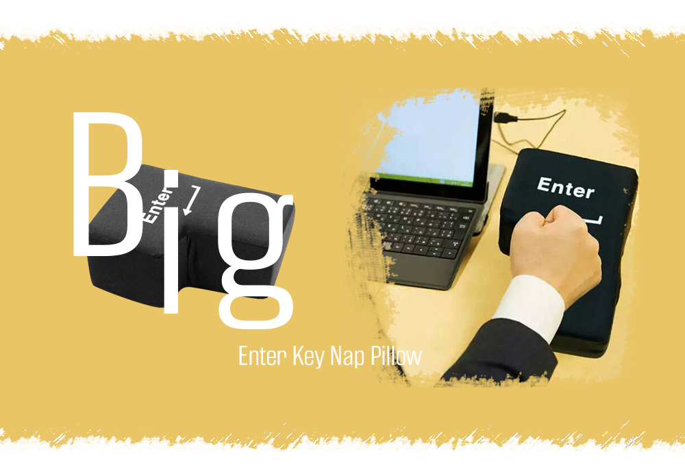 Stress Relief Release Big Enter Key Nap Pillow