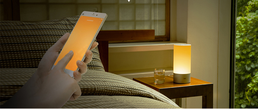Mijia MJCTD01YL Bedside Lamp Night Light with OSRAM LED RGBW Touch Bluetooth Control WiFi Connection ( Update Version )- Gold CN PLUG