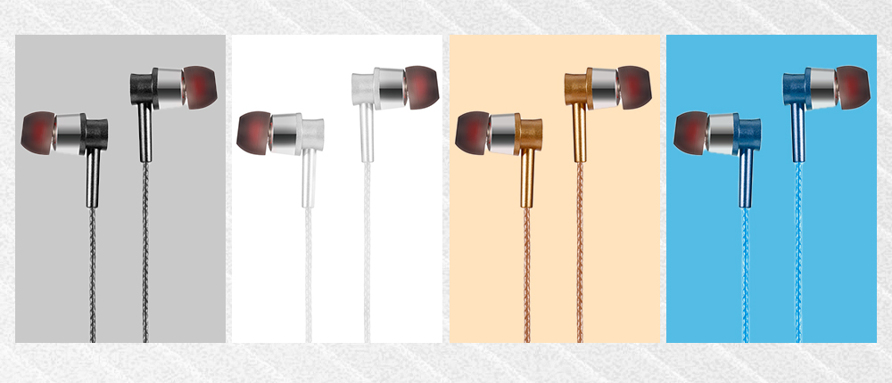 KSD - A23 On-cord In-ear Earphones with Microphone for Universal 3.5mm Connector Type