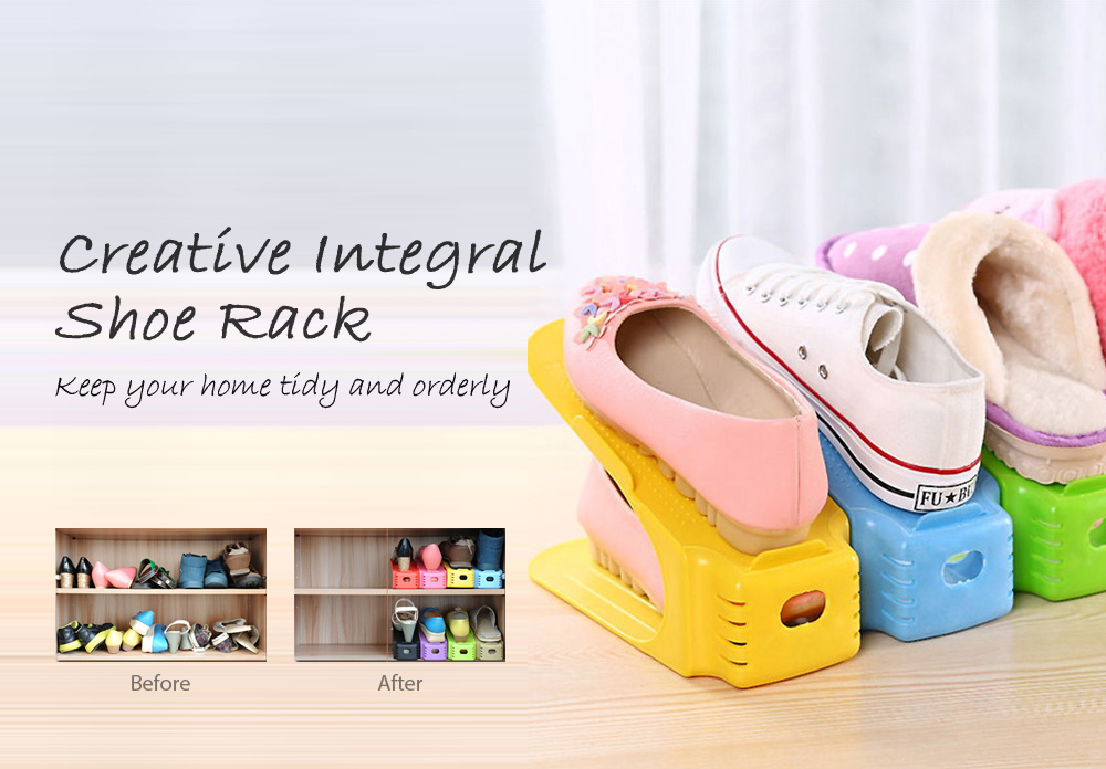 Creative PVC Integral Shoe Rack- Colormix