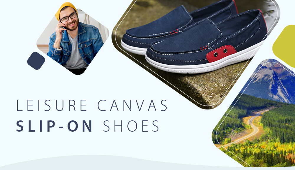 Large Size Breathable Casual Canvas Shoes  for Men