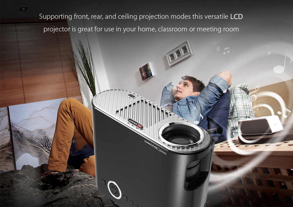 VIVIBRIGHT GP90 LCD Projector 3200 Lumens Android 4 44 OS
