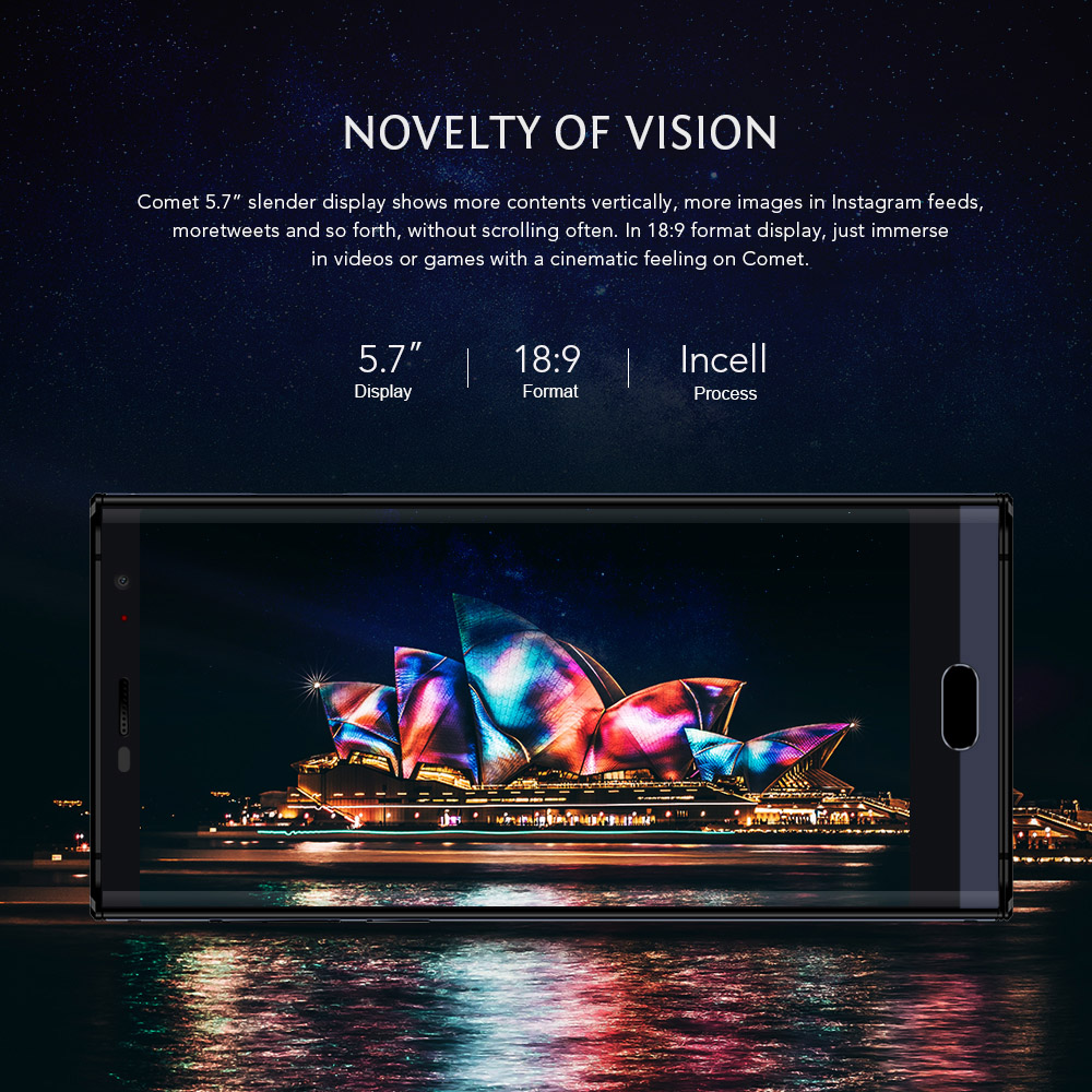 MAZE Comet 4G Phablet Android 7.0 5.7 inch MTK6750T Octa Core 1.5GHz 4GB RAM 64GB ROM Touch Sensor 13.0MP Rear Camera