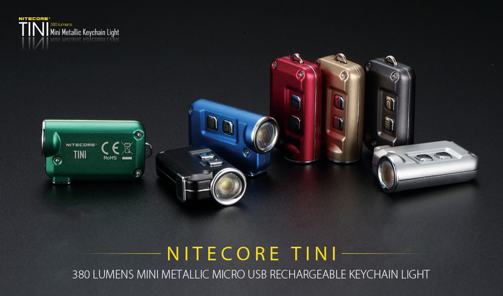 Nitecore TINI CREE XP G2 S3 LED Keychain Flashlight Golden