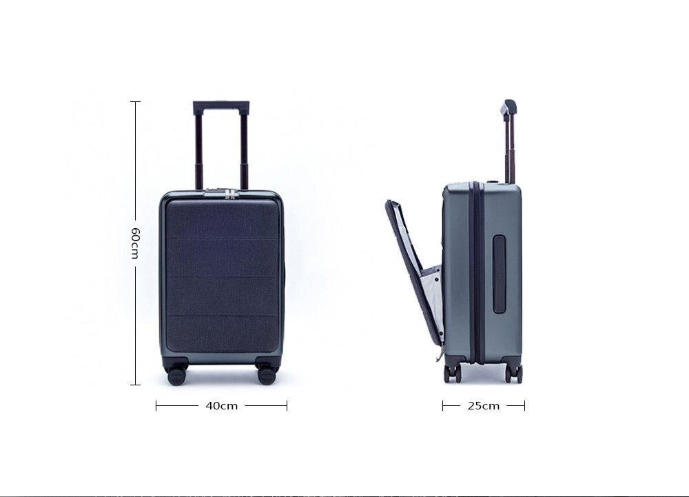 Xiaomi Business 20 inch Opening Cabin Travel Suitcase with Universal Wheel- Gray