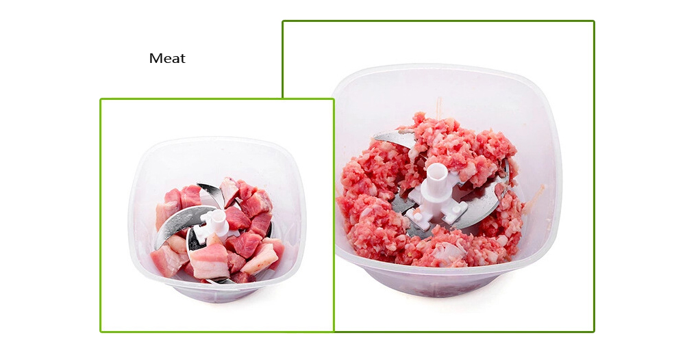 Manual Food Processor Hand-powered Miracle Chopper for Vegetable Meat Fruit 1PC- Colormix