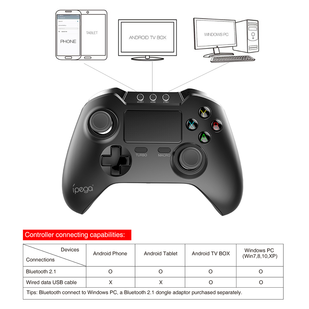 IPEGA PG - 9069 Bluetooth Gamepad with Touch Pad Supports Android / iOS / Window System