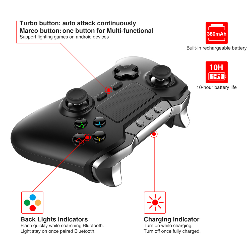 Ipega Pg 9069 Bluetooth Gamepad With Touch Pad 38 12 Free