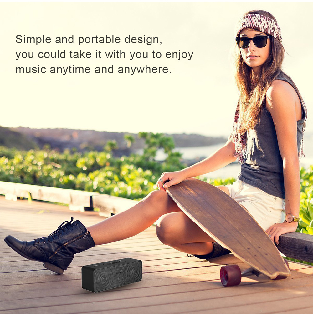 Venstar S207 Portable Wireless Bluetooth Speaker Music Player