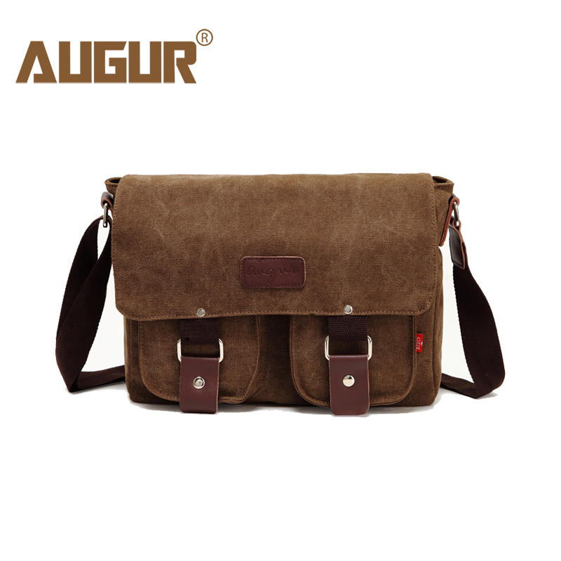 e4af92fc0d80 AUGUR Men Crossbody Male Vintage Canvas Messenger Bag -  20.77 Free ...