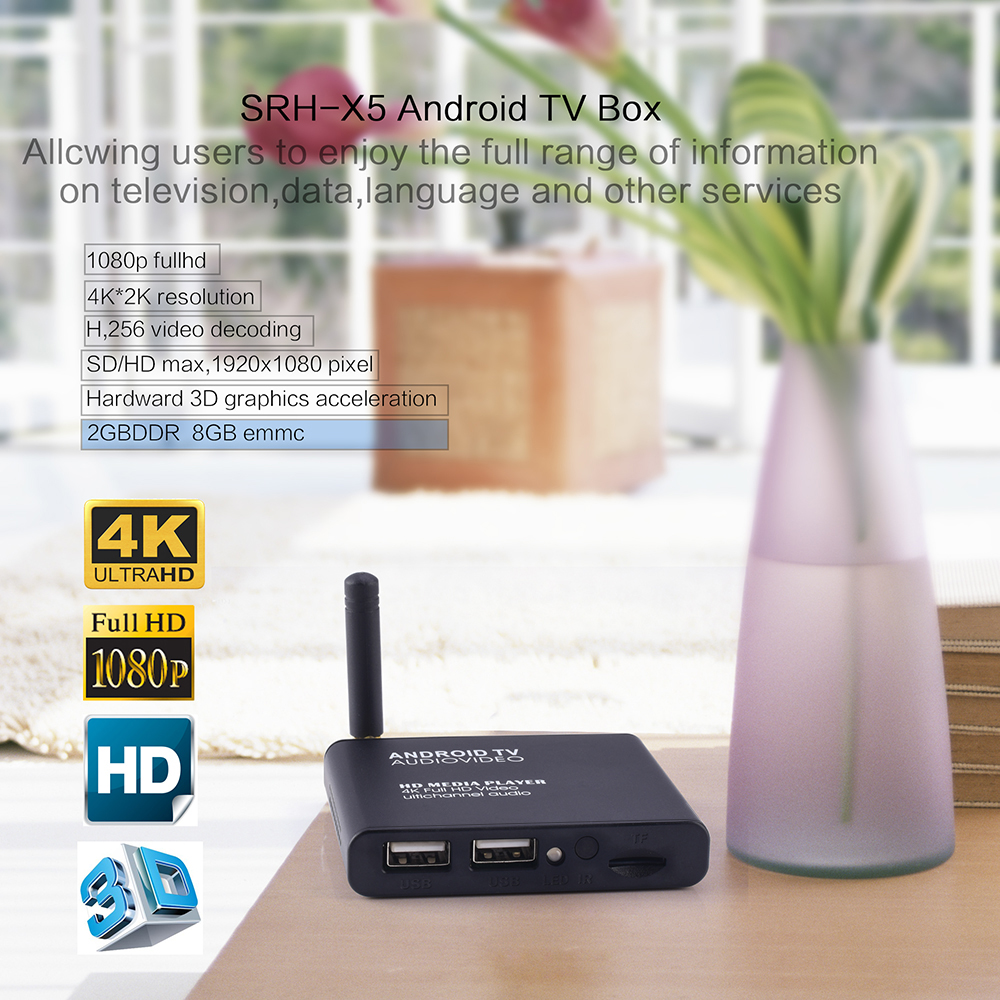 D Bengo X5 Amlogic S905w 2G Ram and 16G Rom Android 7 1 OS Tv Box