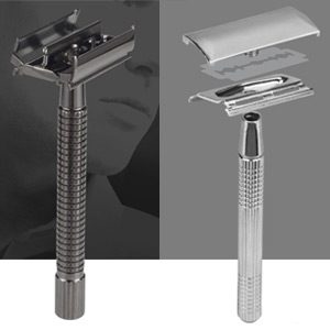 Long Handle Version Butterfly Open Double Edge Safety Razor