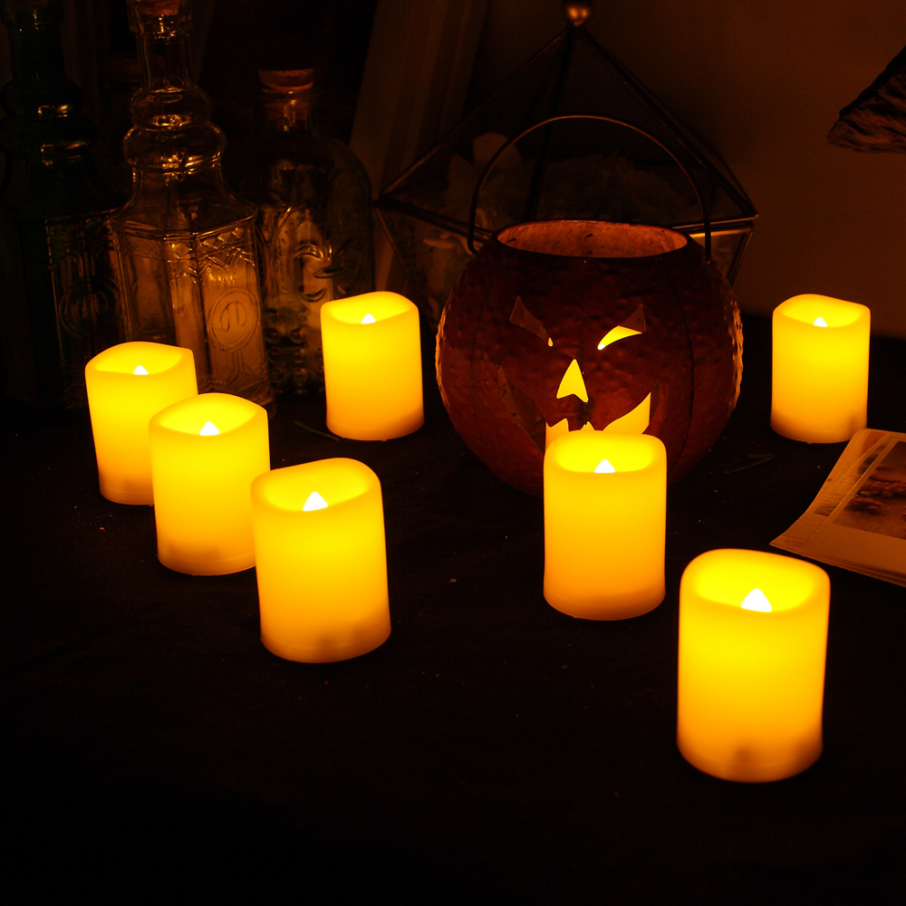 24PCS Realistic Bright Flickering Flameless Votive Candles with Battery