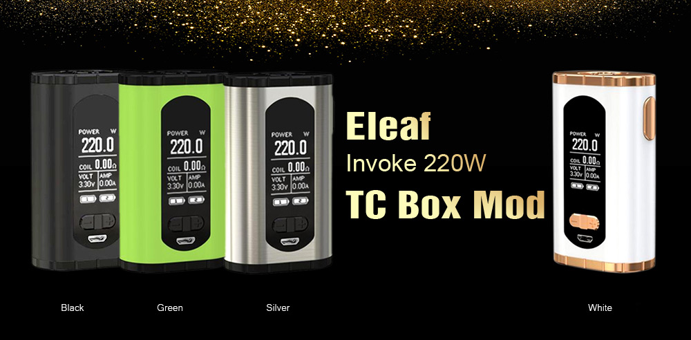 Eleaf Invoke 220W TC Box MOD Color Available