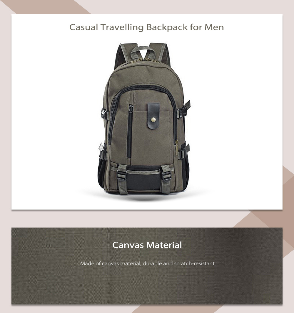5c5a295e3957c1 Outdoor Trendy Canvas Travel Backpack for Men- Army Green