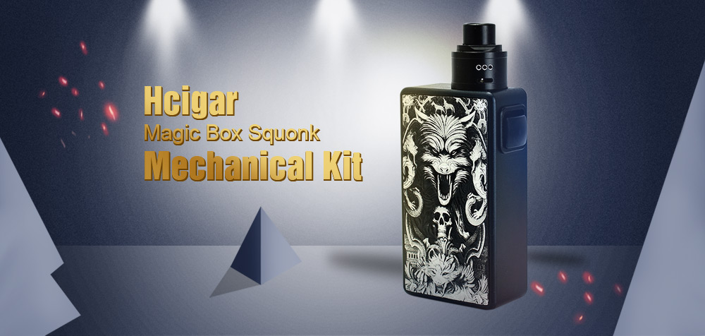 Hcigar Magic Box Squonk Mechanical Kit Supporting 1pc 18650 Battery BF RDA for E Cigarette