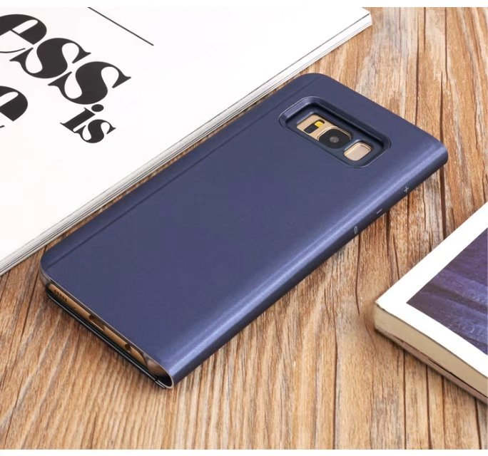 Case for Samsung Galaxy S8 Luxury Clear View Smart Flip Leather Phone Cover