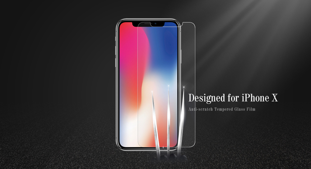 TOCHIC 9H Hardness Tempered Glass Screen Film for iPhone X