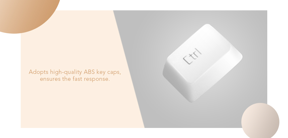 KW - 900 Membrane Keyboard Supporting Backlight Anti-ghosting Key - White and Yellow